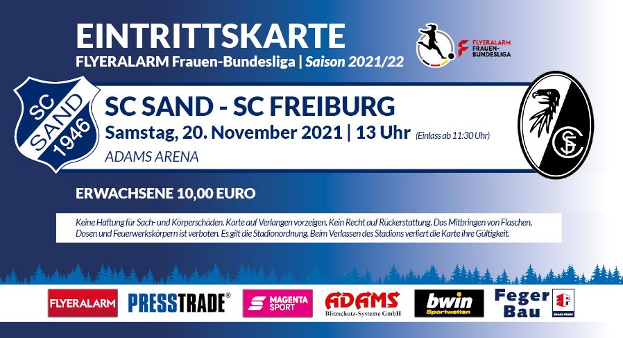 Eintrittskarte Heimspiele Saison 2021/22